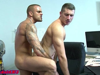 Muscled british queer colleagues shag | british   muscular