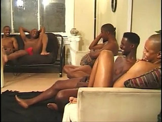Horny black studs have group sex | black tv   group film   horny   studs