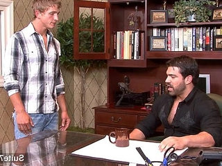 Hefty gay gets fucked in the office | ass collection   fucking   gays tube   getting   jocks   office