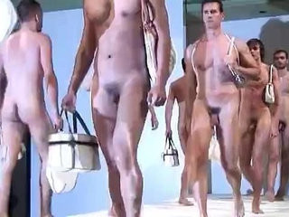 Naked guys on fashion show | naked   outdoors