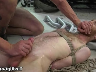 Ginger bdsm sub restrained by tattooed dom | forced   tattooed