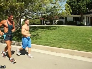 Alex Cox Trstan Jaxx get hot after a nice Jog! | nice