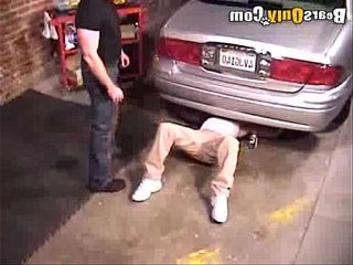 Jock Mechanic Gets Groped | blowjobs   getting   jocks