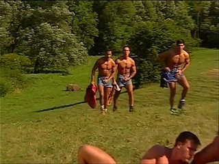 Yummy muscled hunks pumping each others holes under the sun | hunks best  muscular
