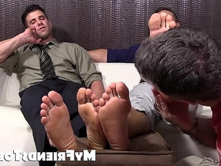 Hot studs Cole and Kenny love to have their feet worshipped   feet top  loving  studs