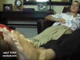 Studs getting their feet worshipped by a slut | feet top   getting   slut male   studs