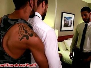 Tattooed gay ebony jock Jin Powers fucks ass | ass collection  bigcock  ebony gay  fucking  gays tube  jocks